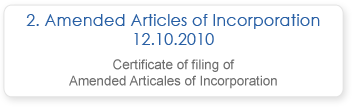 Amended Articles of Incorporation 12.10.2010