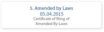 Amended By Laws 05.04.2015
